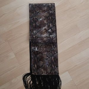 """Faux Python Table Runner Like new 7"""" X 64"""""""